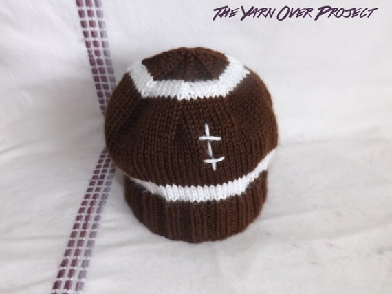 PATTERN Knit Pattern for Football Baby Hat Knit Football