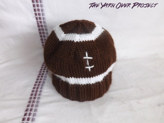 Knit Pattern Baby Football Hat : PATTERN Knit Pattern for Football Baby Hat Knit Football