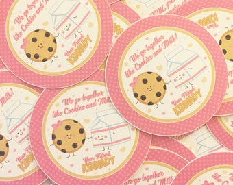 Cookies & Milk Valentines Day Tag