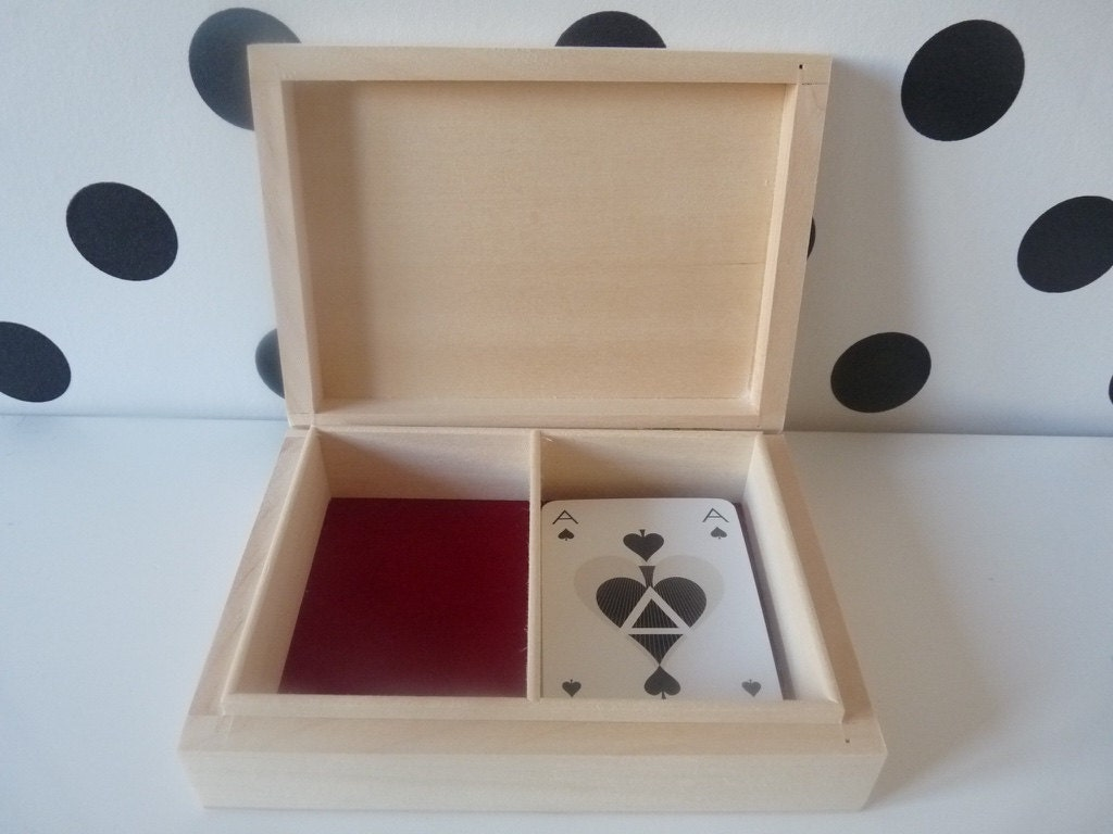 wooden box for playing cards play card box with two deck
