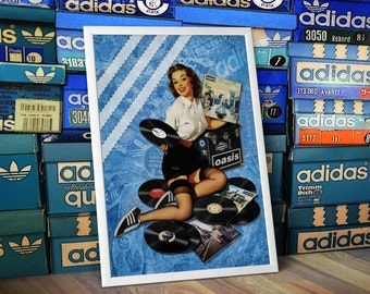 ADIDAS Originals Oasis Pin Up Girl A3 Print Manchester Indie Mod Limited Edition