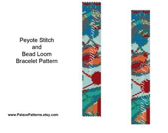 Beading Pattern - Bead Loom and Peyote Bracelet Pattern - NP20