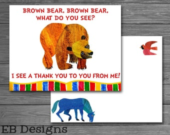 Brown Bear Thank You Cards