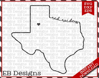 Texas Tech Red Raiders (SVG, EPS and DXF)
