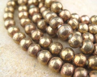 Round Brass Beads From the Villages of Ethiopia! African Metal Beads - Brass Spacers - Wholesale African Beads - Brass Beads 223