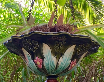 Door hanging plant art new faillence slip
