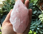 Rough Rose Quartz Gemstone-Rose Quartz-Rose Quartz Meditation Crystal-Rose Quartz Mineral Specimen-Metaphisical Crystal