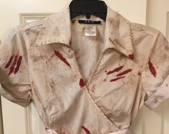 Women's Zombie Dress, Zombie Costume, Walking Dead Dress