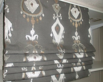 Faux Flat Roman Shade- VALANCE (your fabric,my premium lining)