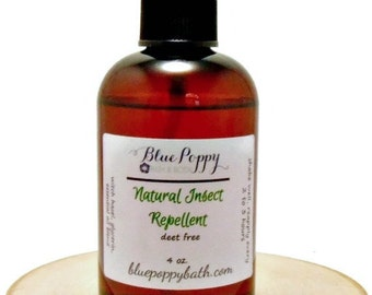 Natural Insect Repellent Spray, Deet Free Bug Spray, Mosquito Spray, Mosquito Repellent, Oil Free Formula