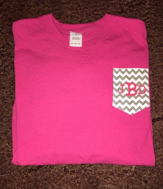 Custom pocket t shirt by creativecutiecakes on etsy for Custom t shirt with pocket