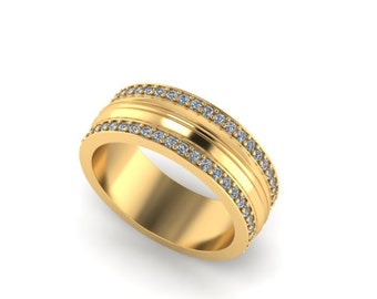 14k yellow gold coordinate ring 14k gold band gold engraved