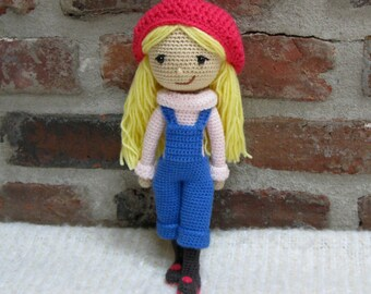 Winter Girl - Amigurumi - Crochet Doll (finished) - plush doll softie