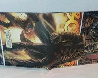 joker 9 - recycled comic book wallet - slim wallet - hanmade wallet - card holder - thin wallet - vinyl wallet - men's wallet
