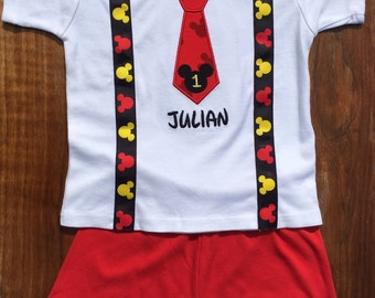 Mickey Mouse Birthday Shirt, Mickey Mouse Birthday, Mickey Mouse Birthday outfit, Mickey Mouse, Minnie Mouse, First Birthday