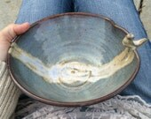 Perched Bird Bowl - Scalloped Edge - Wheelthrown Pottery