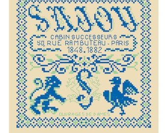 The History of Maison Sajou from 1848 to 1882 in cross stitch