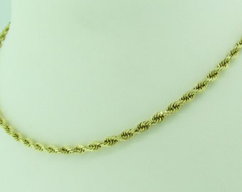 Vintage 14 K gold rope necklace