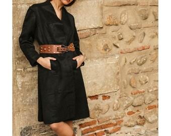 1920s french silky brocade  Flapper Coat // swing coat // 1920s silk kimono