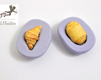 BREAD MOLD fimo croissant bakery flexible silicone mold polymer clay jewelry charms sweet dollhouse miniature food kawaii cabochon ST249