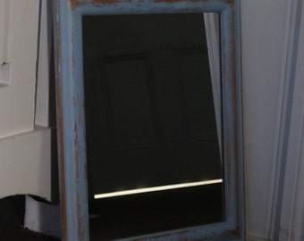Shabby Chic Louie Blue Mirror