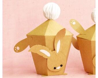 "plotterdatei - gift box ""handstand bunny"": v2"