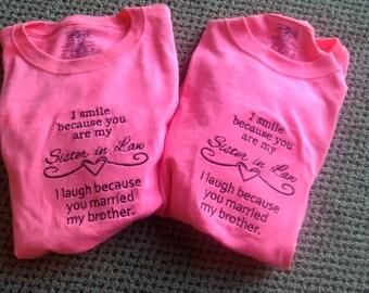 I Smile...Sister-In-Law-Machine Embroidery Design