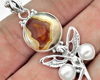 Pendant 925 sterling silver Agate