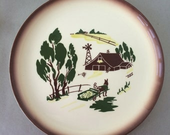 "Vintage Brock of California ""Harvest"" Dinner Plate 