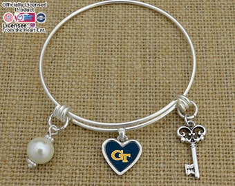 Georgia Tech Yellow Jackets Memory Wire Bracelet