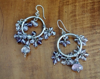 Vintage Thai Sterling Dangle Earrings