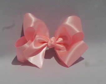 Pink Satin Boutique Hairbow
