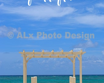 Happy Place - beach photo poster - 8x12 11x14