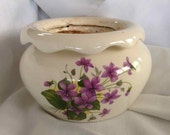 Vintage African Violet Self Watering Planter Pot - Made In Alaska - 1987