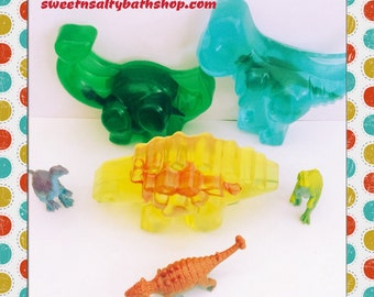 """Dinosaur Scented  """"Surprise Inside"""" Toy Soap"""