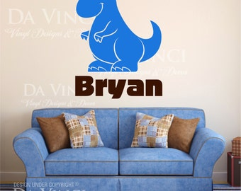Dinosaur Name Decal Etsy - Custom vinyl wall decals dinosaur