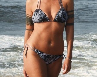 NAMI Two-String Triangle Bikini Top and PASHA Low-Rise String-Tie Bikini Bottom