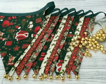 Christmas Bunting, Christmas Garland, Festive Bunting, Yule Bunting, Xmas Bunting Banner, Christmas Decorations, Bells Bunting