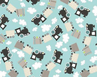 All Aboard Trains Fabric