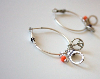 OTTOMAN EARRINGS / / silver plated earrings / / Turkish jewelry/tribal jewelry/gift/freedom / / peace