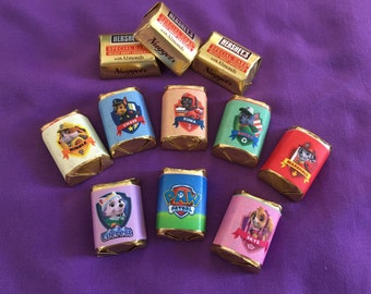 Paw Patrol Hershey's Nuggets Wrappers / labels, Party Favors