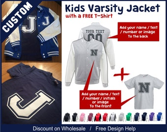 custom printed with logo or text gymnastic varsity sweater