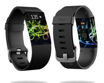 Skin Decal Wrap for Fitbit Blaze, Charge, Charge HR, Surge Watch cover sticker Neon
