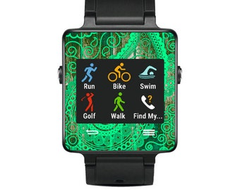 Skin Decal Wrap for Garmin Vivoactive Forerunner Watch cover sticker Vintage Paisley