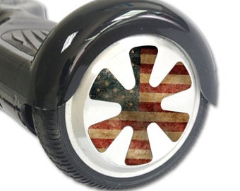 Skin Decal Wrap for Hoverboard Balance Board Scooter Wheels Vintage Flag