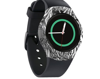Skin Decal Wrap for Samsung Gear S2, S2 3G, Live, Neo S Smart Watch, Galaxy Gear Fit cover sticker Chrome Water