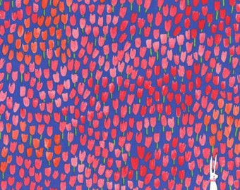 Fabric by the yard - Floral Fabric - Fat Quarter - Tulip Tangled - Michael Miller - Sommer - Modern Fabric - Quilt Fabric - Sale Fabric