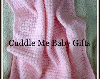 Handmade crochet baby shower baby blanket
