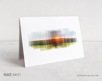 Virginia Sunset Notecard - nature photography, stationery, Virginia notecard, blank notecard, greeting card, Virginia sunset, photo card