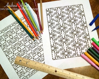 Pattern Coloring Mega Pack - 44 PDF Pages